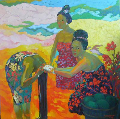 Bathing1 Art Print by Tung Nguyen Hoang