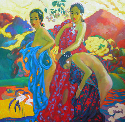 Bathing4 Art Print by Tung Nguyen Hoang