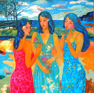 Bathing9 Art Print by Tung Nguyen Hoang