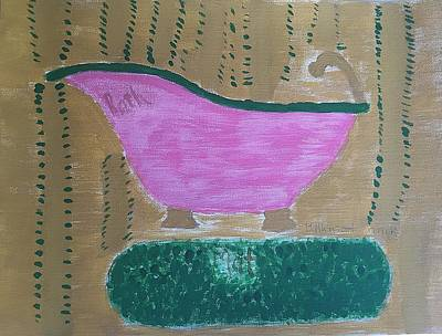 Splish Splash Painting - Bathmat by Nannette Kelly