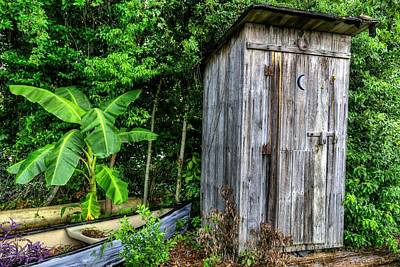 Old Outhouse Photograph - Bathroom Art by JC Findley