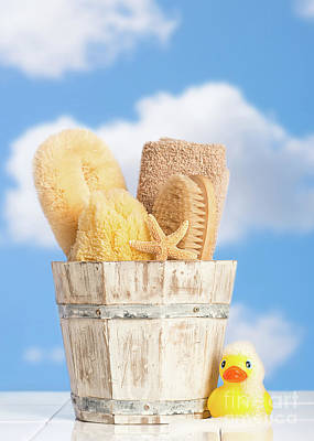 Rubber Duck Photograph - Bathroom Items by Amanda Elwell