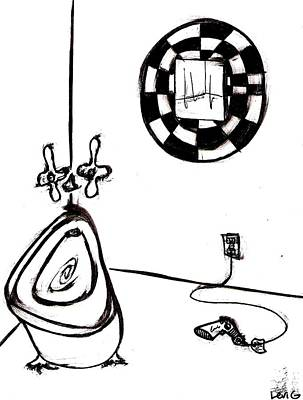 Long Center Drawing - Bathroom by Levi Glassrock