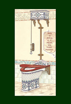 Mixed Media - Bathroom Picture Four by Eric Kempson