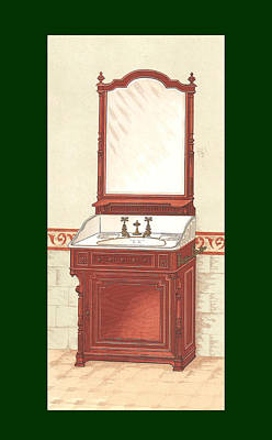 Bathroom Picture Wash Stand One Art Print by Eric Kempson