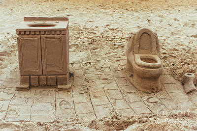 Photograph - Bathroom Sand Sculpture by Colleen Kammerer