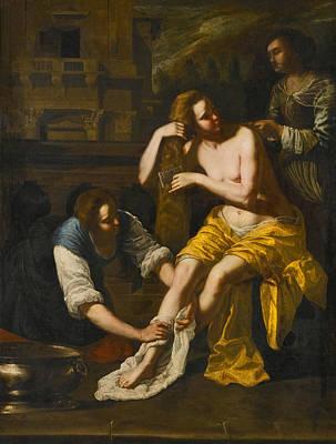 Painting - Bathsheba At Her Bath 2 by Artemisia Gentileschi