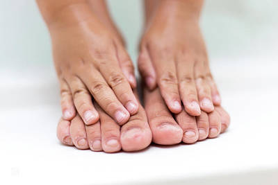 Photograph - Bathtime Toes And Fingers by Geoffrey C Lewis