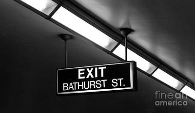 Photograph - Bathurst Street Subway Exit  by Nina Silver