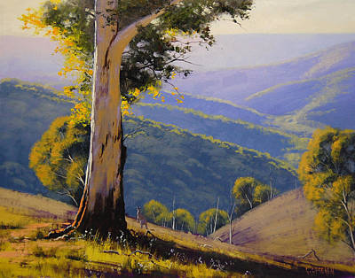 Gum Trees Painting - Bathust Gum  by Graham Gercken