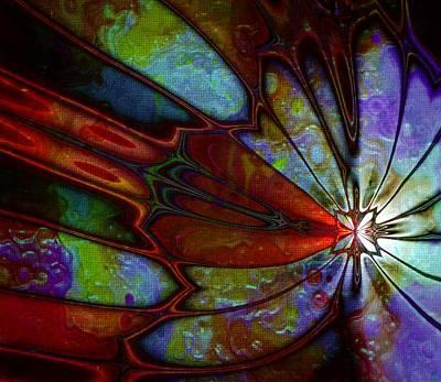 Framed Art Digital Art - Batik by Amanda Moore