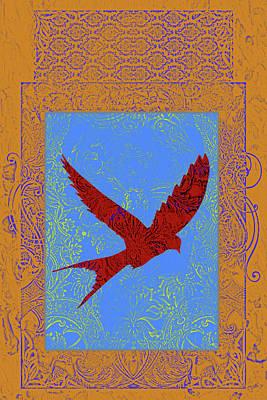 Blue Swallowtail Mixed Media - Batik Bird 1 by Priscilla Huber