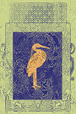 Bird Batik Painting - Batik Birds 10 by Priscilla Huber