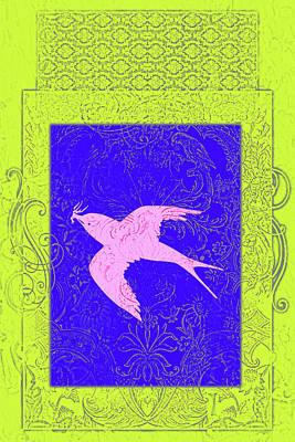 Bird Batik Mixed Media - Batik Birds 6 by Priscilla Huber