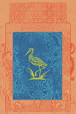 Stork Mixed Media - Batik Birds 7 by Priscilla Huber