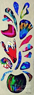 Mixed Media - Batik Bouquet by Sarah Loft
