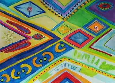 Batik Circus Art Print by ARTography by Pamela Smale Williams