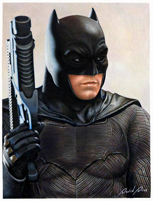 Ben Affleck Drawing - Batman 2 by David Dias