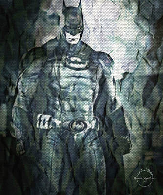 Digital Art - Batman by Absinthe Art By Michelle LeAnn Scott