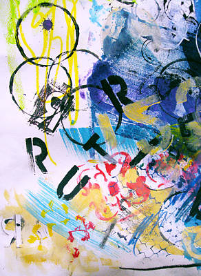 Riddler Painting - Batman Abstracts The Riddler  by Sadeyedartist Baltimore