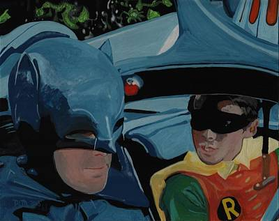 Reverse Glass Painting - Batman And Robin by David Moriarty