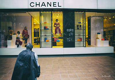 The Dark Knight Photograph - Batman And The City Chanel Edition by Anna  Vinterfall