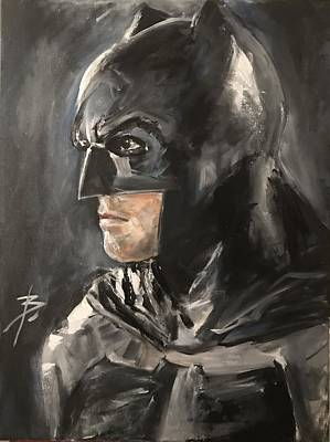 Ben Affleck Painting - Batman - Ben Affleck by Brian Cleary