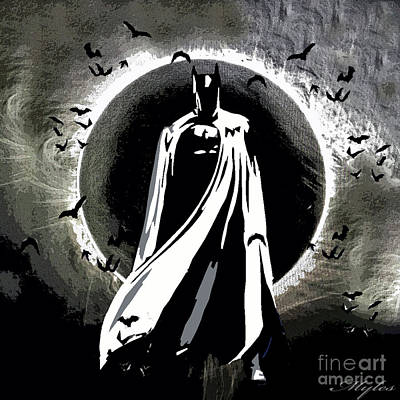 Painting - Batman Beyond The Eclipse by Saundra Myles