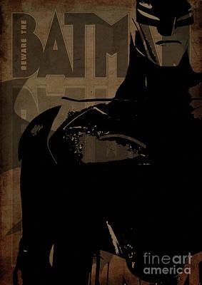 Portrait Digital Art - Batman Brown - Crack Brown  by Prar Kulasekara