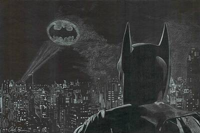 Drawing - Batman by Chris Brown