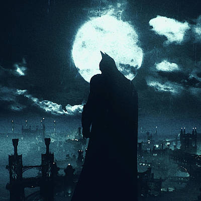 Painting - Batman, Dark Knight Rises - 11 by Andrea Mazzocchetti