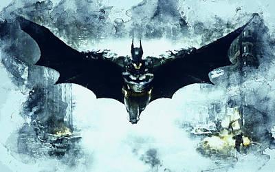 Painting - Batman, Dark Knight Rises - 12 by Andrea Mazzocchetti