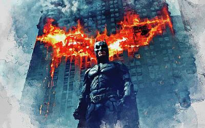 Painting - Batman, Dark Knight Rises - 13 by Andrea Mazzocchetti