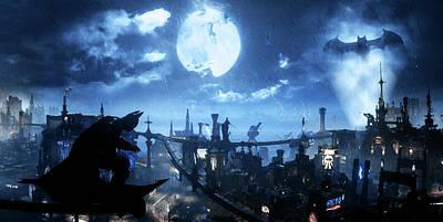 Painting - Batman, Dark Knight Rises - 5 by Andrea Mazzocchetti
