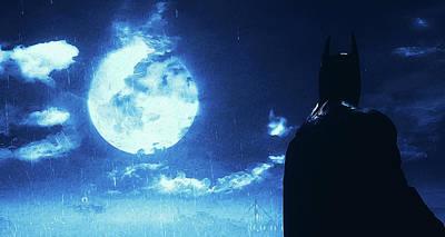 Painting - Batman, Dark Knight Rises - 6 by Andrea Mazzocchetti