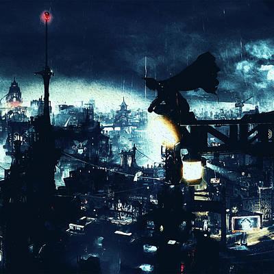 Painting - Batman, Dark Knight Rises - 9 by Andrea Mazzocchetti