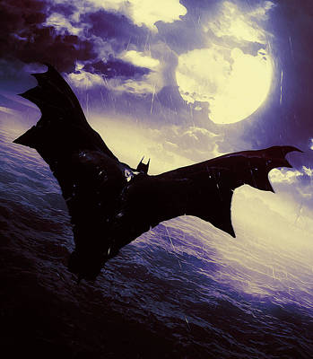 Painting - Batman, Dark Knight Rises by Andrea Mazzocchetti