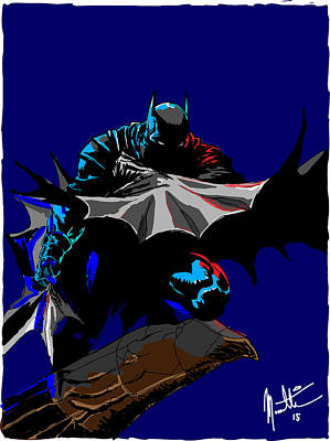 Digital Art - Batman Dark  by Robert Massetti