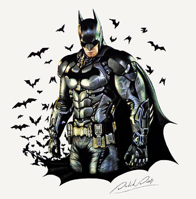Dc Comics Drawing - Batman by David Dias
