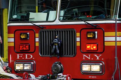 Truck Photograph - Batman - Fireman - Fdny by Bill Cannon