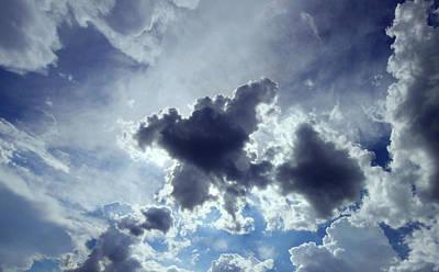 The Dark Knight Photograph - Batman In The Cloud by Yousif Hadaya