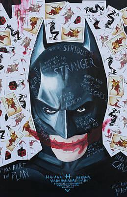 Batman- Joker Cards Original by James Holko