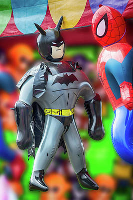 Photograph - Batman Meets Spiderman by John Haldane