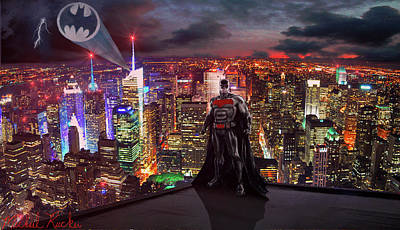 Ben Affleck Wall Art - Digital Art - Batman by Michael Rucker