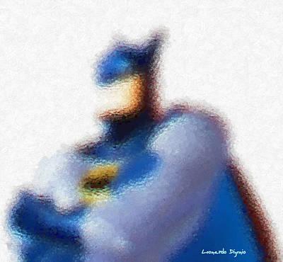 League Painting - Batman - Pa by Leonardo Digenio