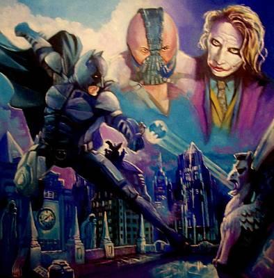 Painting - Batman by Paul Weerasekera