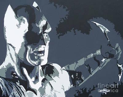 Batman- Shadow Of Justice Print by Kelly Hartman