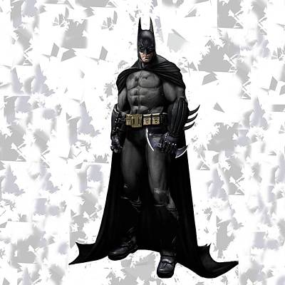 Crime Fighter Mixed Media - Batman Splash Super Hero Series by Movie Poster Prints