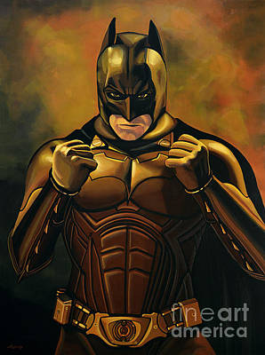 Knight Painting - Batman The Dark Knight  by Paul Meijering