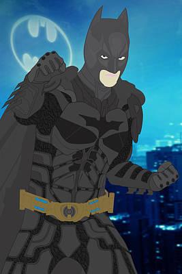 Batman - The Dark Knight Print by Troy Arthur
